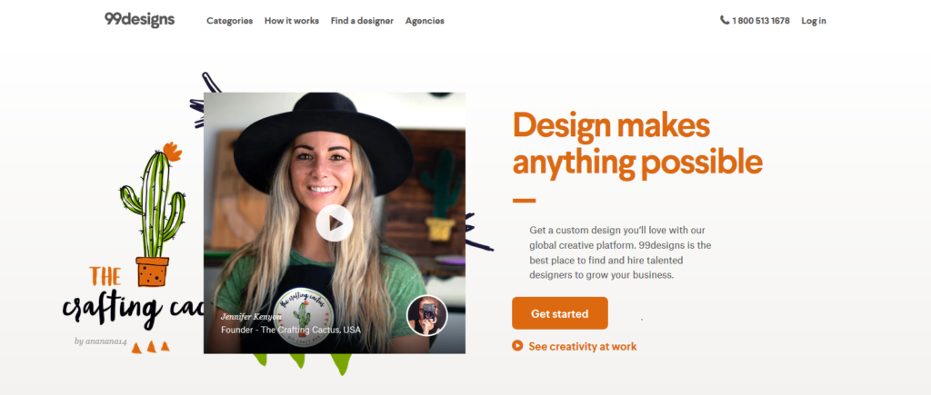 Top 10 freelancing websites - 99designs Image
