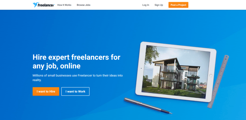 Top 10 freelancing websites - Freelancer Image
