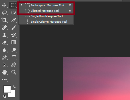 The Marquee Tool (The primary cropping method)