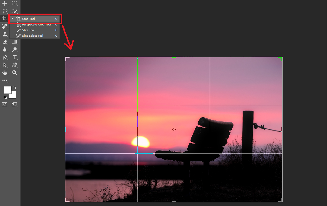 Why doesn't the crop tool crop layers individually