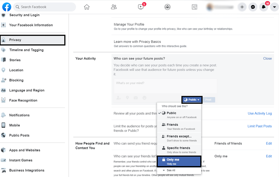 How to Make Your Facebook Friends List Private