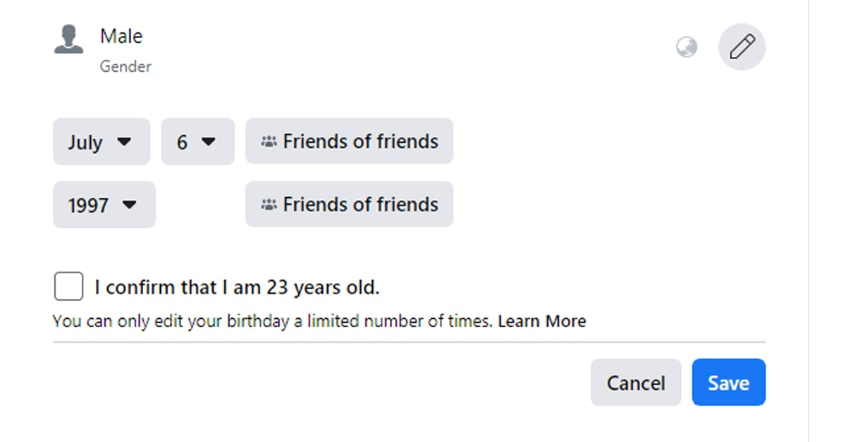 How to Change Birthday Date on Facebook on Desktop PC