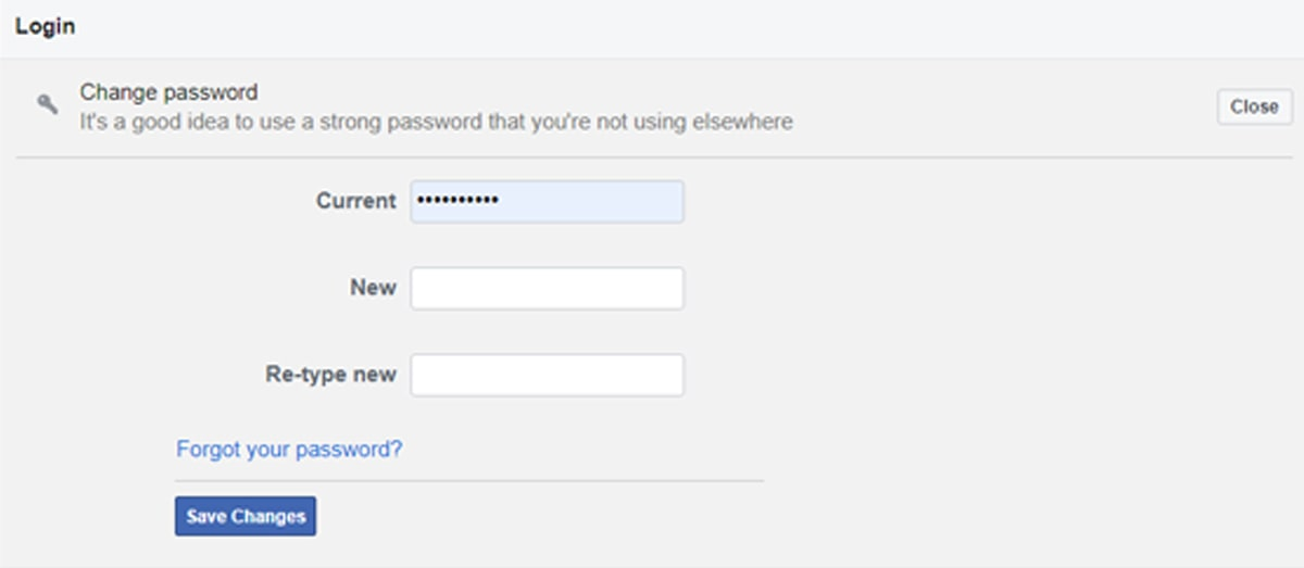 How to Change Facebook Password on PC