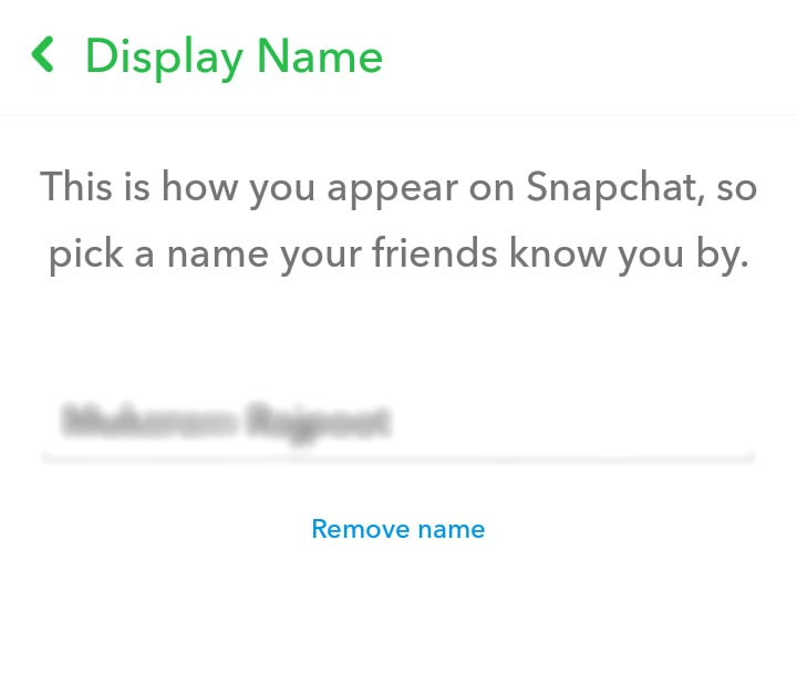 How to Change Snapchat Display Name