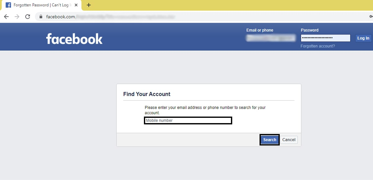 How to Change the Facebook Password if Forgotten