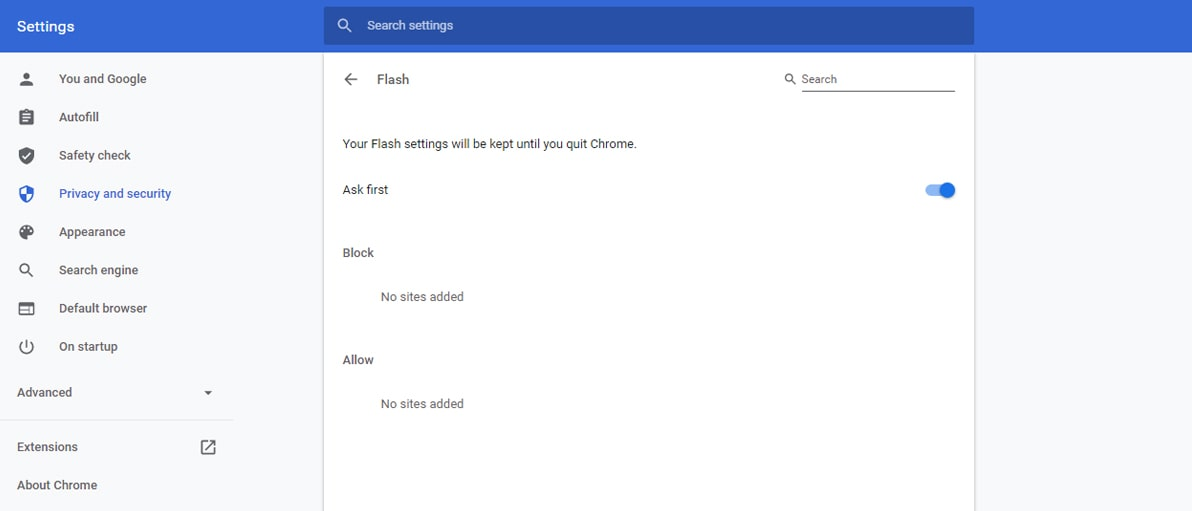 How to Unblock Flash on Chrome