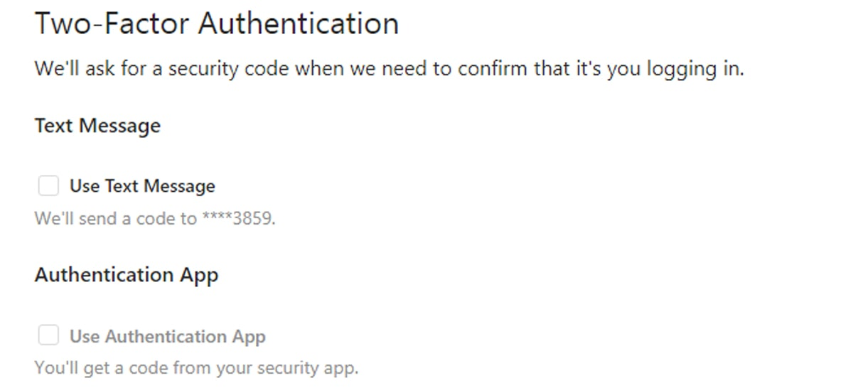 What about Two-Factor Authentication